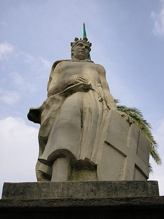Algeciras - Statue in Algeciras of King Alfonso XI of Castille, who conquered the city in 1344.