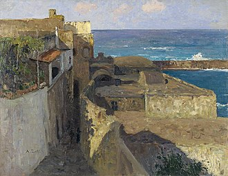 Alfred Zoff - Image: Alfred Zoff Enge Gasse in Forio
