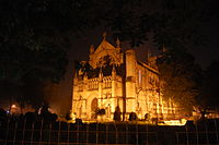 All Saints Cathedral, Allahabad in the night.jpg