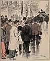 All of Paris turns up for an important funeral procession. C Wellcome V0011895.jpg