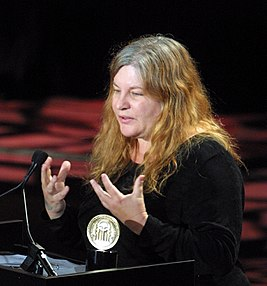 Allison Anders accepts the Peabody Award, May 2002 (cropped).jpg