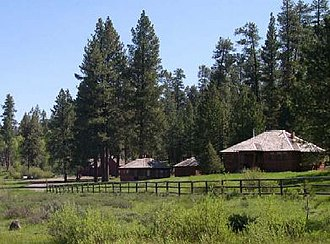 National Register of Historic Places listings in Harney County, Oregon - Image: Allison Ranger Station, Oregon, 2003