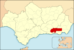 Alpujarras - Location of las Alpujarras in Andalusia