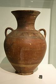 Amfora, Attic workshop, Early Geometric Period, 875 - 850 BC, Prague Kinsky, UKA 60-5, 140721.jpg