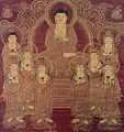 Amida with Eight Great Bodhisattvas (Zenmyoji Tsuruga).jpg