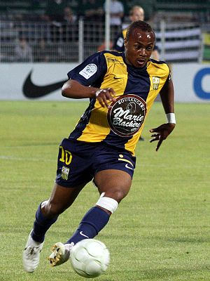 AC Arles-Avignon - André Ayew, now of West Ham United, helped Arles achieve promotion to Ligue 1.