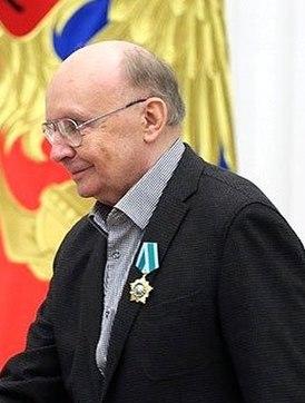 Андрей Васильевич Мягков на вручении награды