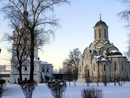 Spassky Cathedral, 1357 (the oldest extant building in Moscow) Andronikov Monastery 18.jpg
