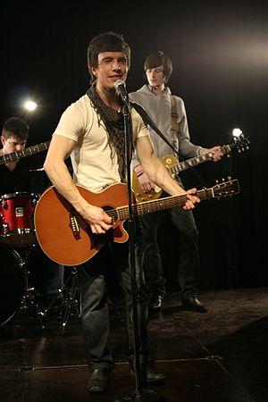 Andy Doonan - Andy Doonan during filming of his debut single video shoot