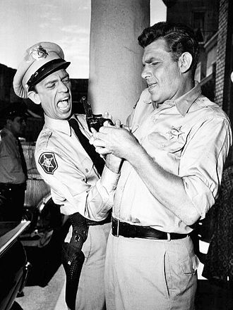 Don Knotts - As Barney Fife, Knotts gets the help of Sheriff Taylor when his gun gets stuck on his finger.