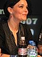 Anette Olzon do Nightwish em sessão de autógrafos.jpg