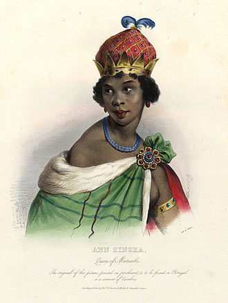Nzinga of Ndongo and Matamba - Drawing of Nzinga of Ndongo and Matamba in Luanda, Angola