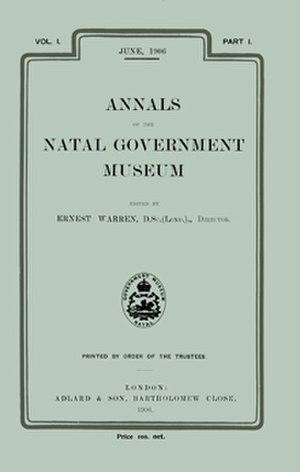 African Invertebrates - Image: Annals Natal Museum 1906