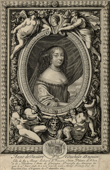 Anne of Bavaria (Anne of the Palatinate), Princess Palatine as Duchess of Enghien following her marriage (1663).png