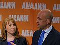 Annie Lööf och Fredrik Reinfeldt, 2013-09-09 04.jpg