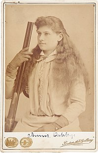 Annie Oakley by Baker's Art Gallery c1880s.jpg