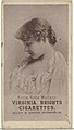 Annie Robe Wallace, from the Actresses series (N67) promoting Virginia Brights Cigarettes for Allen & Ginter brand tobacco products MET DP839570.jpg