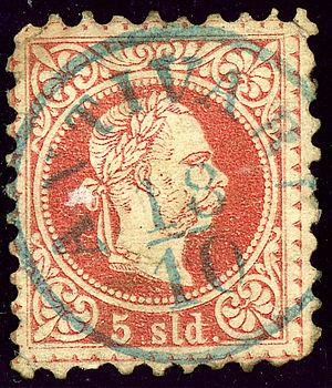 Postage stamps and postal history of Montenegro - ANTIVARI cancel on the 1867 issue