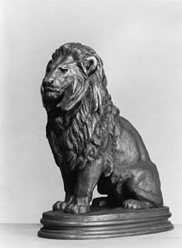 Antoine-Louis Barye - Seated Lion - Walters 27448