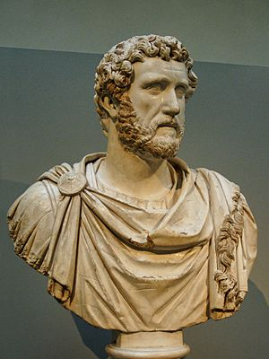 Early life and career of Marcus Aurelius - Bust of Antoninus Pius from the house of Jason Magnus at Cyrene, North Africa (British Museum).