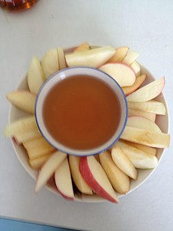 Apples dipped in honey.JPG