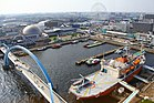 Aquarium + Giant wheel + Fuji Icebreaker - view from the lighthouse - Nagoya Port - Japan (15676490678).jpg