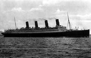 Harry Crosby - The RMS Aquitania in 1914.