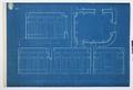 Arbetsritningar, fastigheten nr 4 Hamngatan. Inredning av rummet för samlingarna - Hallwylska museet - 105311.tif