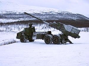 Archer Artillery System - A deployed Archer