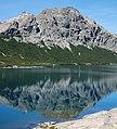 Argentina - Bariloche trekking 133 - morning reflection in Jakob Lake (6798036733).jpg