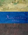 Armand Laroche (1826-1903). Signature peinte de l'artiste.png