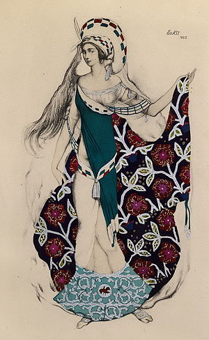 Paul Paray - Sketch for Artémis troublée by Léon Bakst