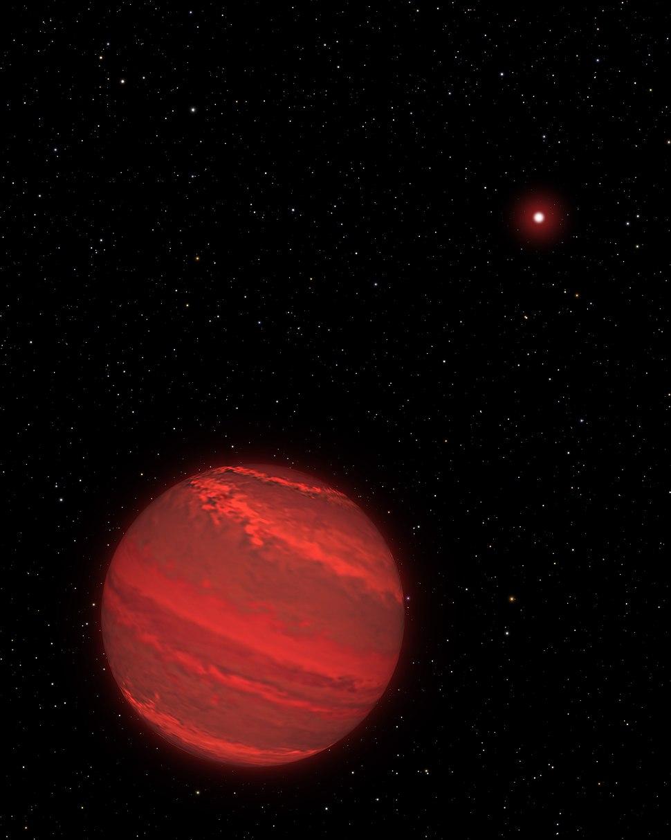 Artist%27s View of a Super-Jupiter around a Brown Dwarf (2M1207)