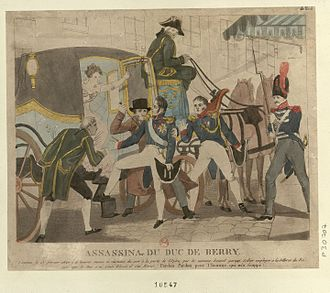 Paris during the Bourbon Restoration - The assassination of the Duc de Berry outside the Opera (13 February 1820)