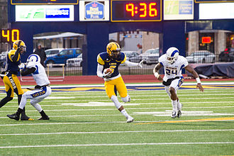 Angelo State Rams football - The Rams in action against the Texas A&M–Commerce Lions in 2014