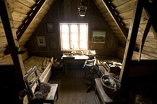 Attic Space or room below a pitched roof of house or other building.