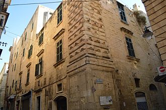 Auberge d'Italie - Rear view of Auberge d'Italie from the corner of Melita and Zachary Streets