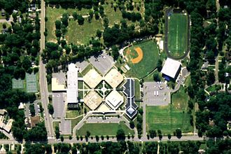 Auburn High School (Alabama) - An aerial photo of Auburn High School
