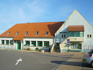 Audinghen - The town hall and school of Audinghen