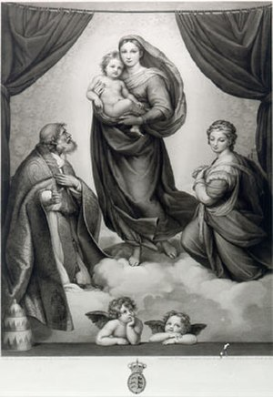 Auguste Gaspard Louis Desnoyers - Image: Auguste Gaspard Louis Desnoyers Sixtinische Madonna, 1841