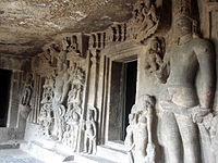Aurangabad Caves, another view.JPG