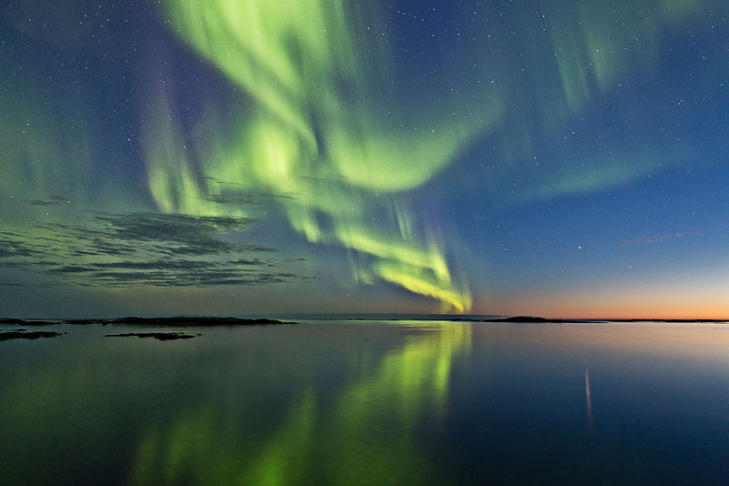 File:Aurora and sunset.jpg