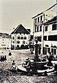 Ausstellung 'Der Zeit voraus - Drei Frauen auf eigenen Wegen' - Stadtmuseum Rapperswil - Alwina Gossauer, die älteste bekannte Fotografie von Rapperswil 1865 mit Hauptplatz, Brunnen und Rathaus 2015-09-05 16-31-31.JPG