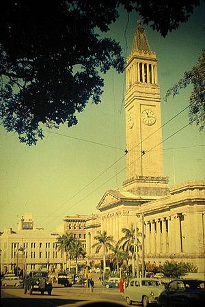 William Lovelock - 1959 postcard of Brisbane