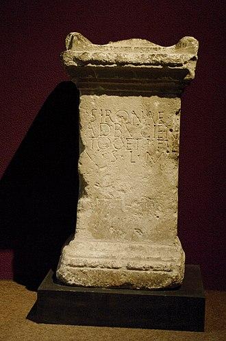 Sirona - Inscription to Sirona, found in Bordeaux (France)
