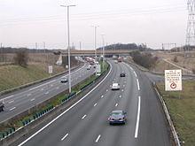 L'autoroute A1 au niveau de Chennevières-lès-Louvres (Val d'Oise)