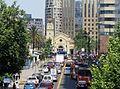 Avenida Vitacura -comienzo y catedral castrense de Los Leones f04.jpg