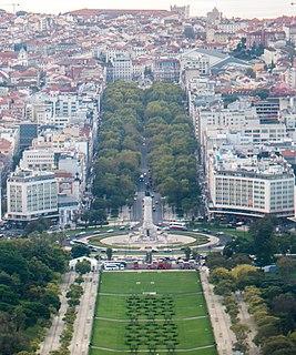 Avenida da Liberdade cultural heritage monument in Lisboa, Portugal