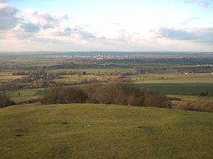 Aylesbury Vale - Part of Aylesbury Vale taken from the top of Coombe Hill, looking towards Aylesbury