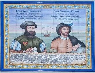 Sanlúcar de Barrameda 2019–2022 - Tile commemorating the first global circumnavigation, the Magellan-Elcano expedition, which sailed from Sanlúcar de Barrameda (Cadiz), Spain, on 20 September 1519.